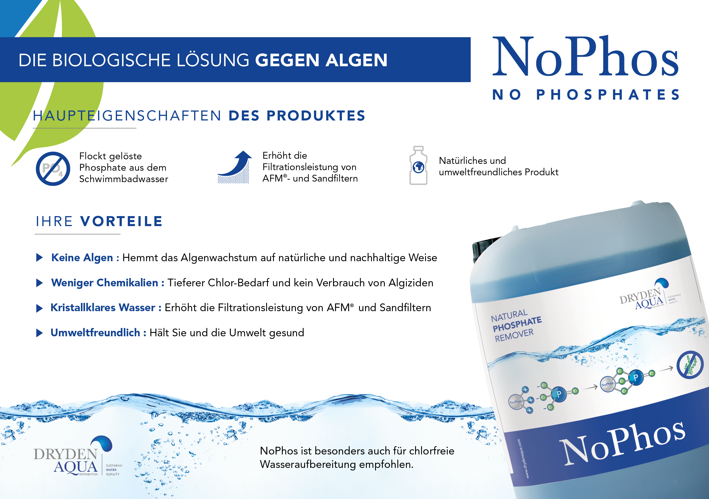 NoPhos A5 brochure German