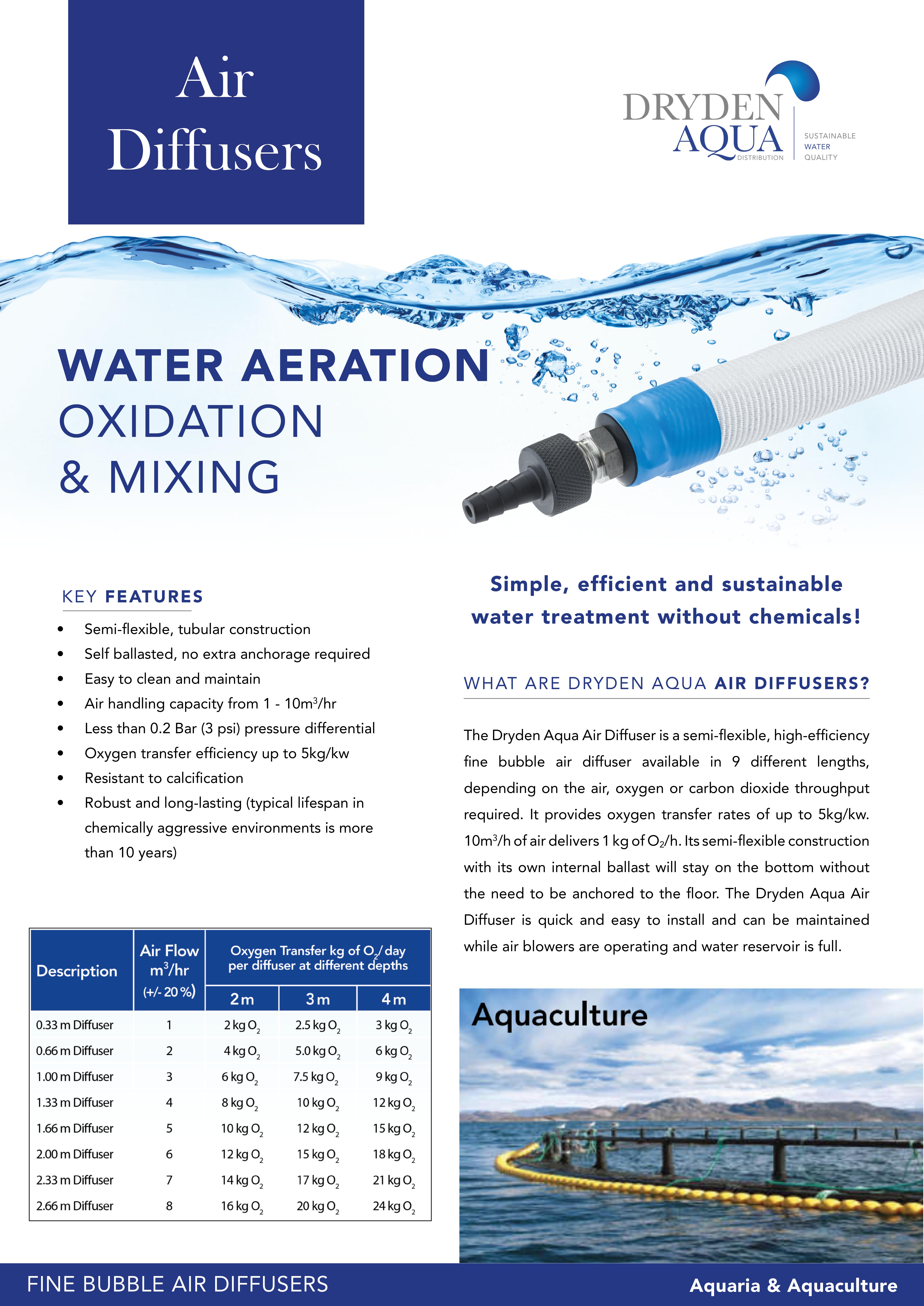Air diffuser - Aquaria & Aquaculture 2 pager