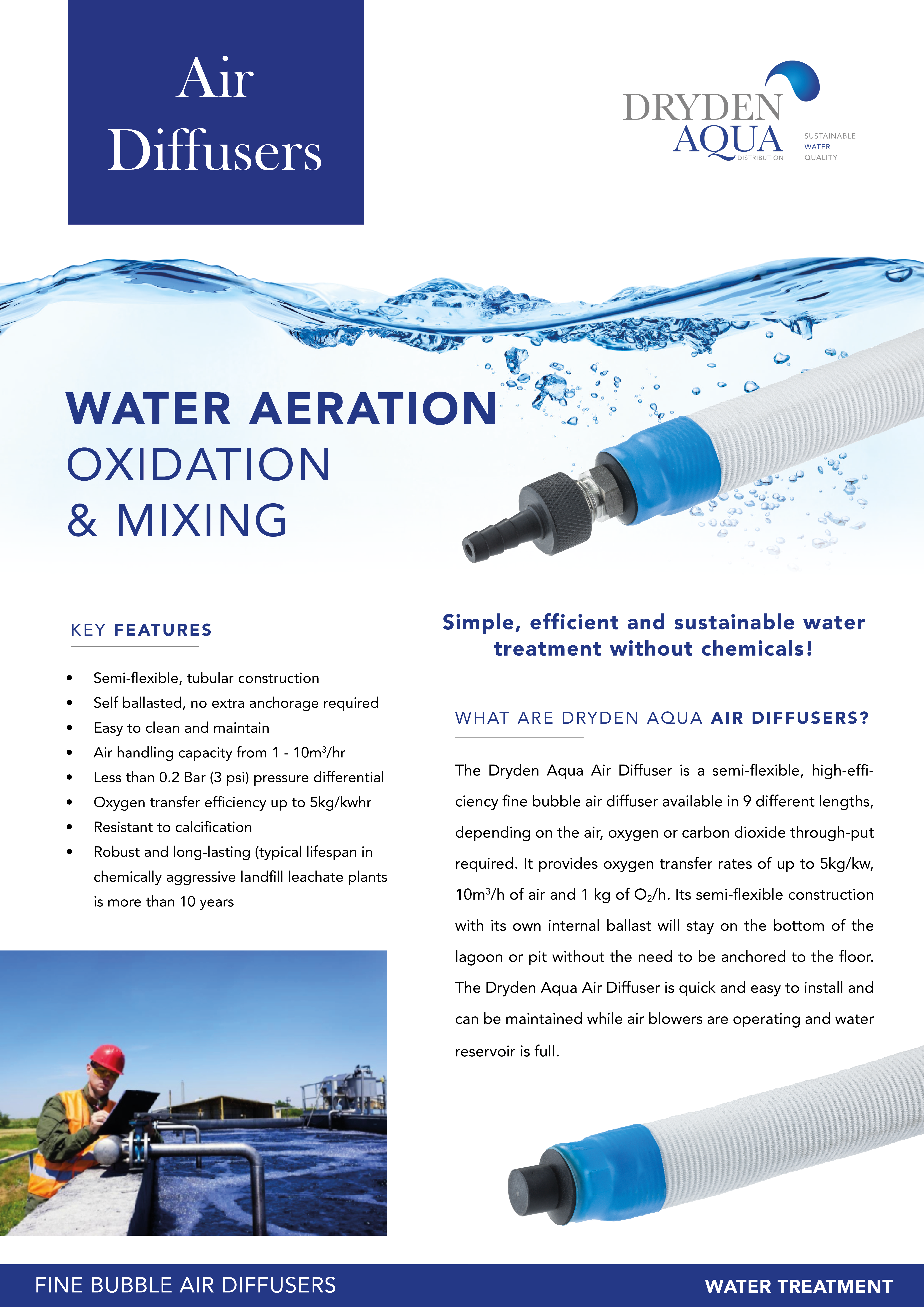 Air diffuser - Water Treatment 2 pager