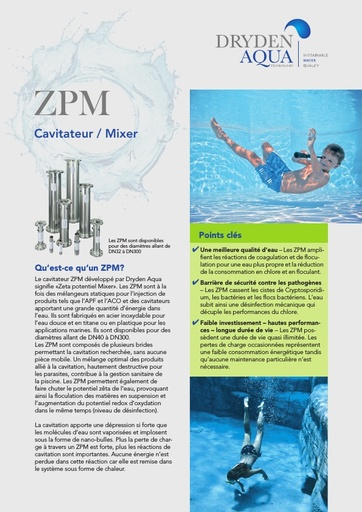 ZPM A4 brochure swimming pools French