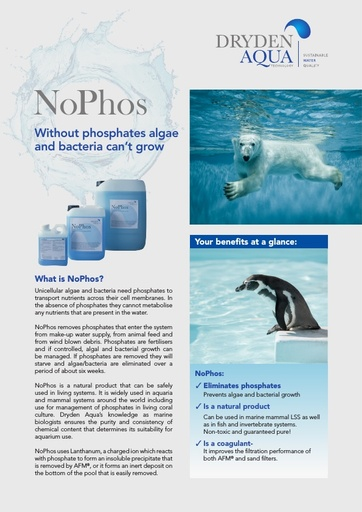 NoPhos A4 brochure Aquariums English