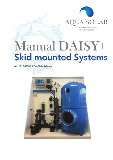 DAISY+ skid Manual ref 044003 & 044004
