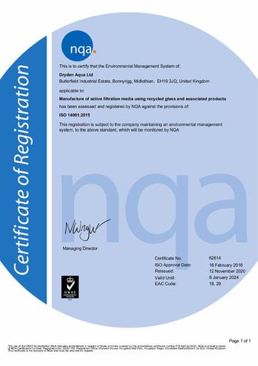 Dryden Aqua ISO 14001 Cert 2018   21