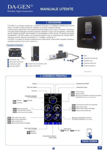 DA-GEN Touch 2020 Manual Italian