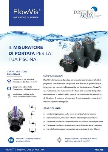 FlowVis A4 brochure Italian