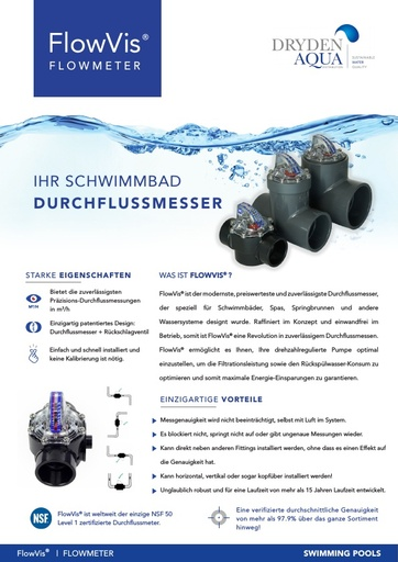 FlowVis A4 brochure German