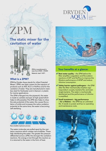 ZPM A4 brochure swimming pools English