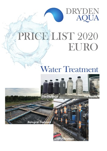 Price List 2020 Water Treatment EUR English