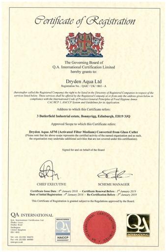 HACCP certificate 2017