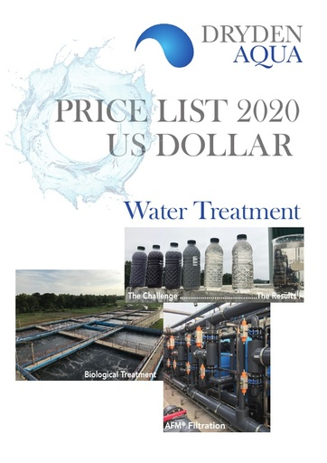 Price List 2020 Water Treatment USD English